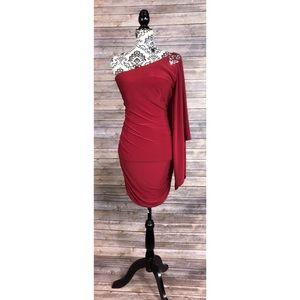 Adrianna Papell dress large embellished shoulder